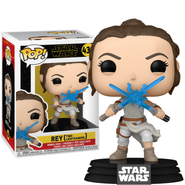 Rey with 2 Light Sabers 434 - Star Wars